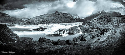 Photograph - The Falls In Black And White by Andrew Matwijec