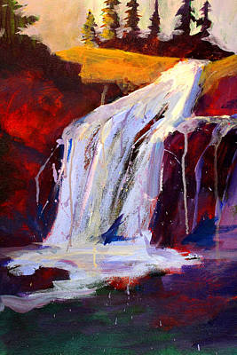 Painting - The Falls by Nancy Merkle