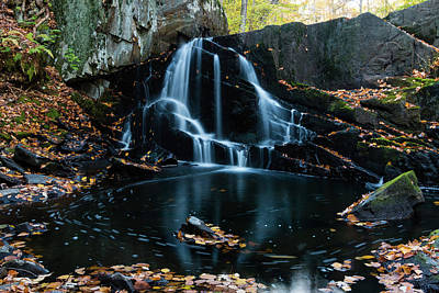 Photograph - The Falls Of Black Creek In Autumn I by Jeff Severson