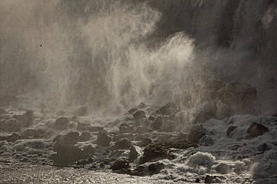 Photograph - The Falls Of Niagara Bw by Theo O'Connor