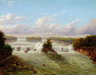 Glen Painting - The Falls Of St. Anthony, 1848 by Seth Eastman