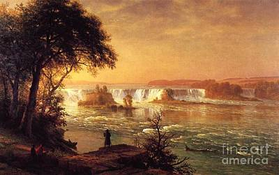 Fall Of River Painting - The Falls Of St. Anthony by MotionAge Designs