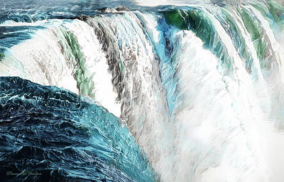 Digital Art - The Falls by Pennie McCracken
