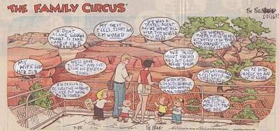 Grand Canyon Drawing - The Family Circus  by William Douglas