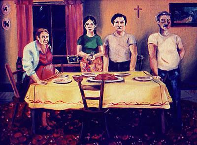Painting - The Family Dinner by John Keaton
