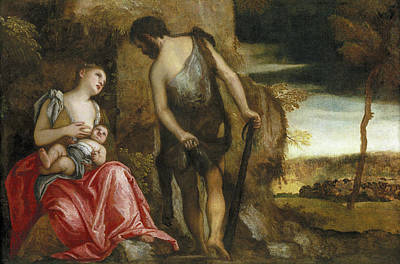 Cain Painting - The Family Of Cain Wandering by Paolo Veronese