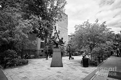 Americas Playground Photograph - the family sculpture at bleeker playground greenwich village New York City USA by Joe Fox