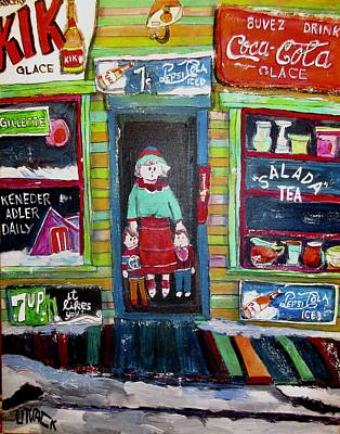 Painting - The Family Store In The Country by Michael Litvack