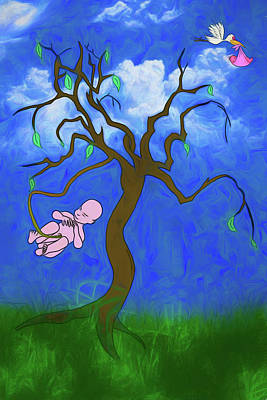 Digital Art - The Family Tree by John Haldane