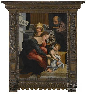 The Family With Saint Anne Art Print