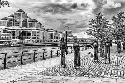 Photograph - The Famine Statues, Dublin by Jim Orr
