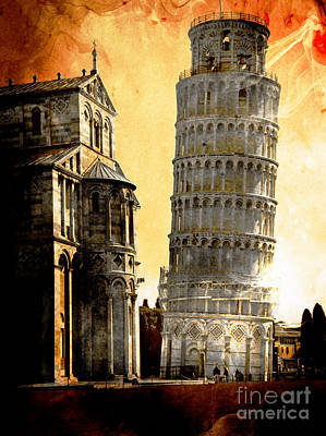 Photograph - The Famous Leaning Tower Of Pisa II by Al Bourassa