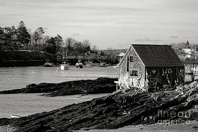 The Famous Lobsterman Shack On Mackerel Cove  Art Print by Olivier Le Queinec