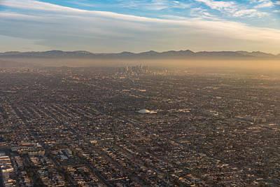 Photograph - The Impressive City Of Angels - Los Angeles California U S A - Urban Sprawl And Smog  by Georgia Mizuleva