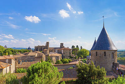 Photograph - The Famous Medieval Citadel La Cite In Carcassonne In France by Semmick Photo