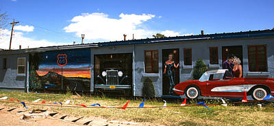 Famous Murals In Tucumcari Photograph - The Famous Murals On Route 66 by Susanne Van Hulst