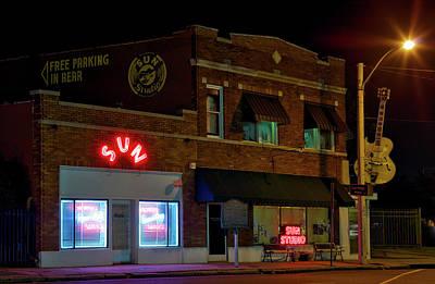 Memphis Recordings Photograph - The Famous Sun Records Studio by Mountain Dreams
