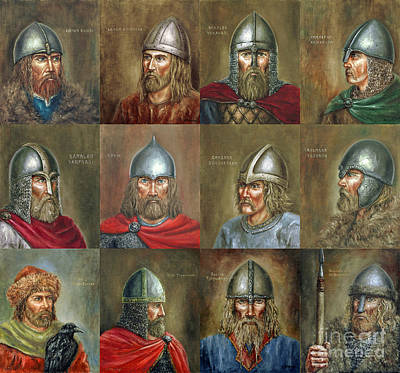 Painting - The Famous Vikings by Arturas Slapsys