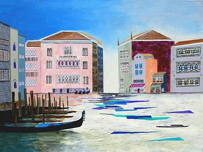 Phthalo Blue Painting - The Fantastic Reality Of Venice by Nigel Radcliffe
