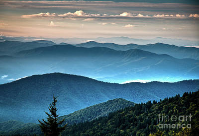 Photograph - The Far Blue Smoky Mtns. by Douglas Stucky