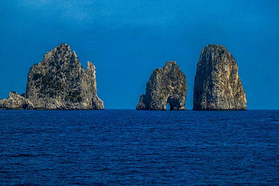 Photograph - The  Faraglioni Rocks At The Island Of Capri by Marilyn Burton