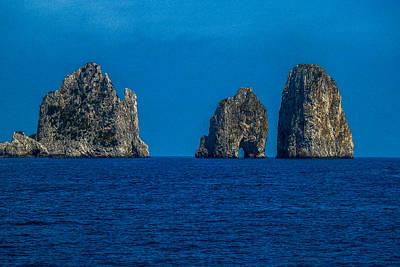 Photograph - The  Faraglioni Rocks At The Island Of Capri by Marilyn Burton