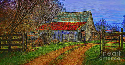 Photograph - The Farm 14318 by Ray Shrewsberry