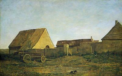 Realistic Painting - The Farm by Charles-Francois Daubigny