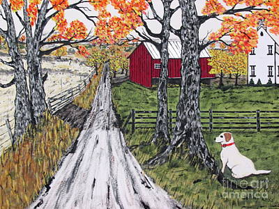 Painting - Sadie The Farm Dog by Jeffrey Koss