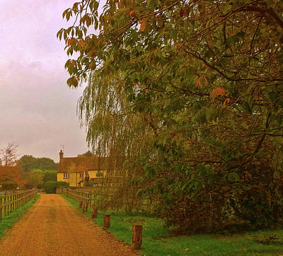 Photograph - The Farm In Autumn by Anne Kotan