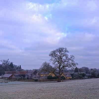The Farm In Winter Art Print by Anne Kotan