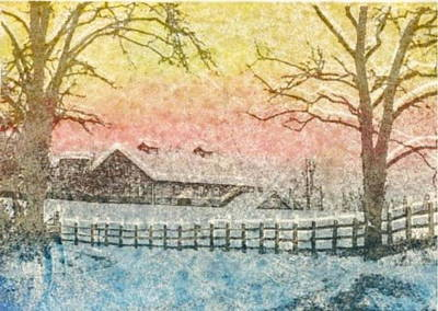 Mixed Media - The Farm by John Brisson