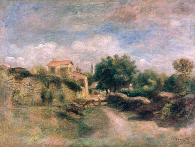 French Country Painting - The Farm by Renoir