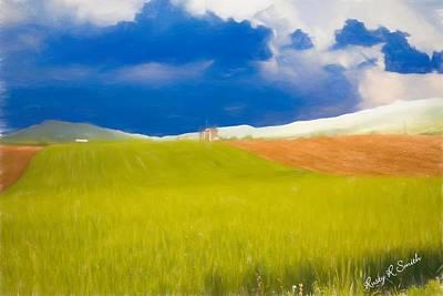 Digital Art - The Farm by Rusty R Smith