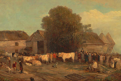 Painting - The Farm Sale by Mountain Dreams