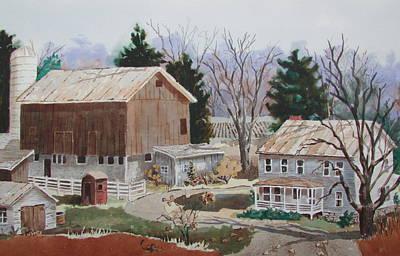 Painting - The Farm by Tony Caviston