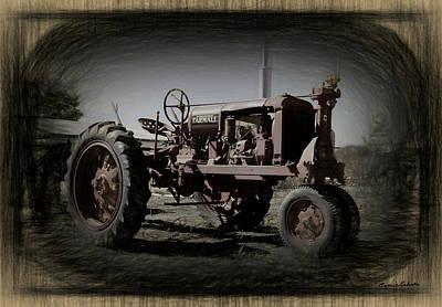 Digital Art - The Farmall Tractor by Ernie Echols