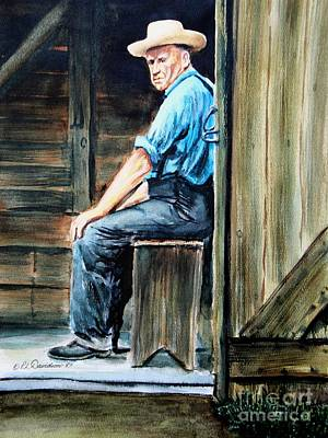 Painting - The Farmer by Patricia L Davidson