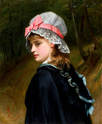 Sillem Painting - The Farmers Daughter by Charles Sillem Lidderdale