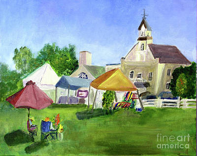 Painting - The Farmers Market by Donna Walsh