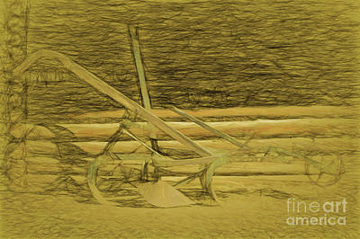 Drawing - The Farmers Plow by Steven Parker