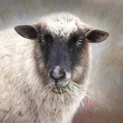 The Farmer's Sheep Art Print