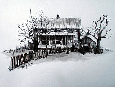 Shed Drawing - The Farmhouse by Terry Ganey