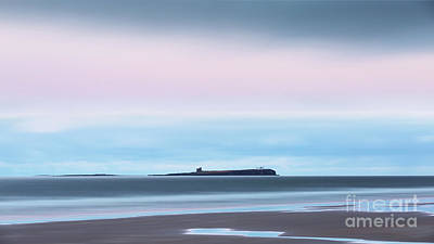 Northumbrian Photograph - The Farne Islands From Bamburgh by Tony Higginson