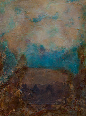 Mixed Media - The Farther Mountains by Carla Woody