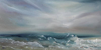 Painting - The Fathomed Sea by Kristine Kainer