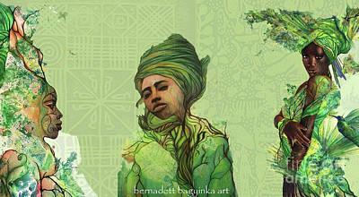 Digital Art - The Fauns by Bernadett Bagyinka