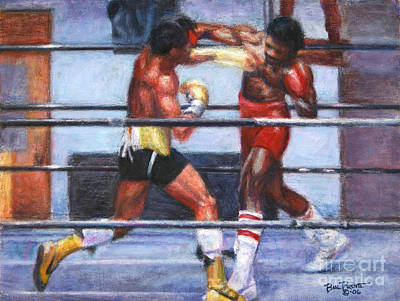 Stallone Painting - The Favor - Rocky 3 by Bill Pruitt