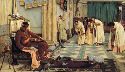Ancient Roman Painting - The Favourites Of The Emperor Honorius by John William Waterhouse