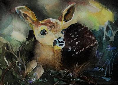 Painting - The Fawn by Mindy Newman